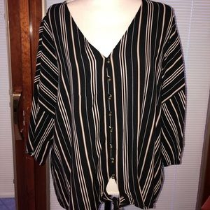 Maurices striped button down
